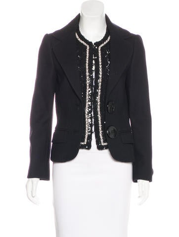 Dolce & Gabbana Wool Embellished Jacket None