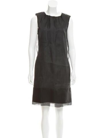 Dolce & Gabbana Wool & Silk-Blend Shift Dress None