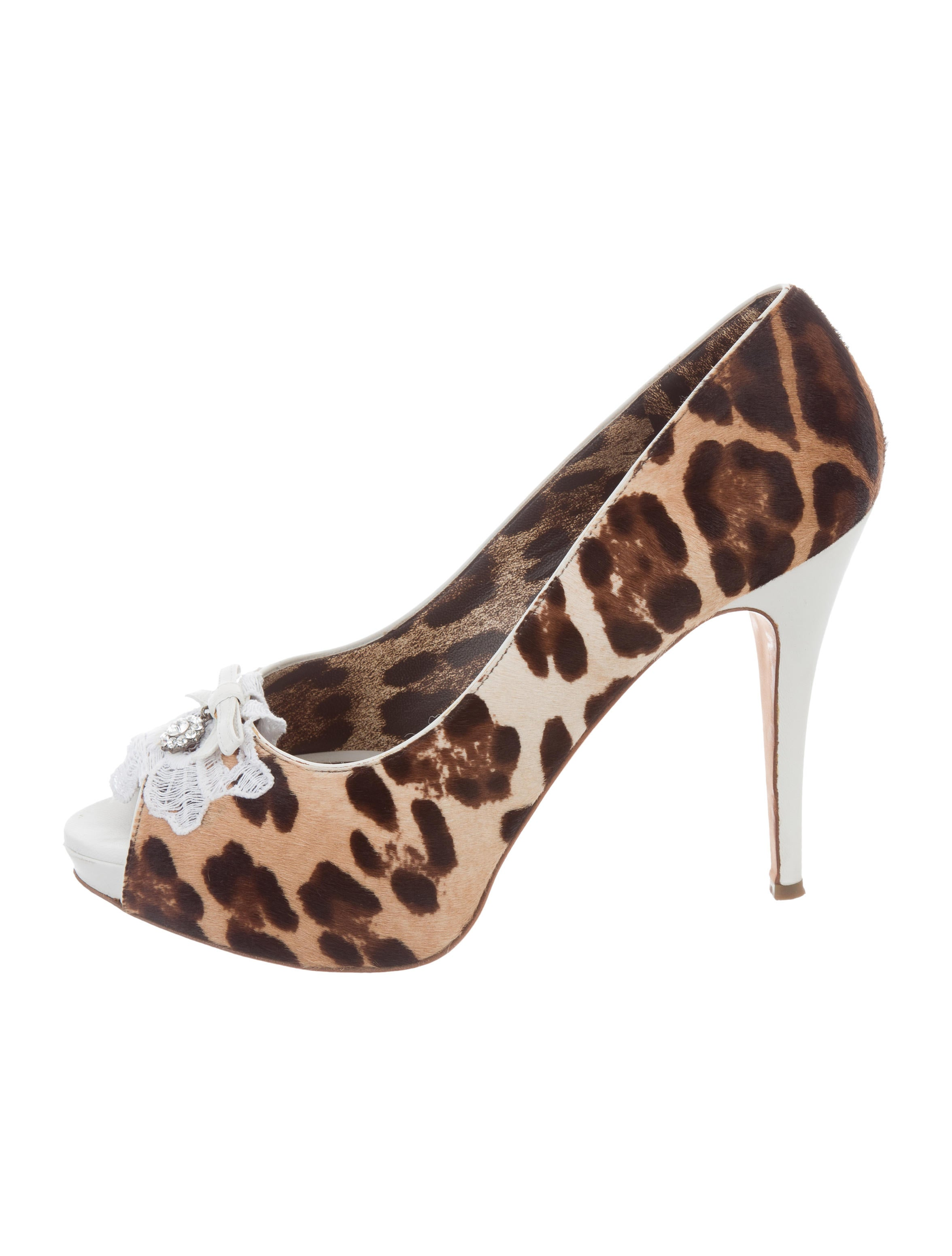 Dolce & Gabbana Ponyhair Round-Toe Pumps 2014 newest cheap price nzl1FNY