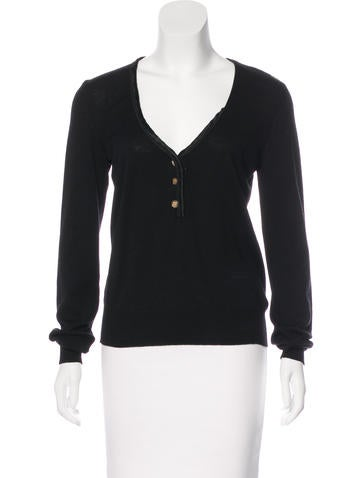 Dolce & Gabbana Long Sleeve Knit Top None