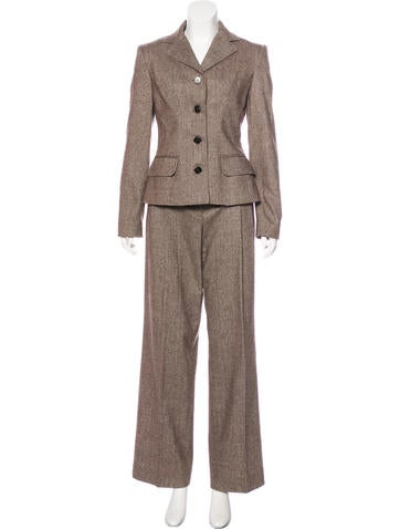 Dolce & Gabbana Wool-Blend Pantsuit None
