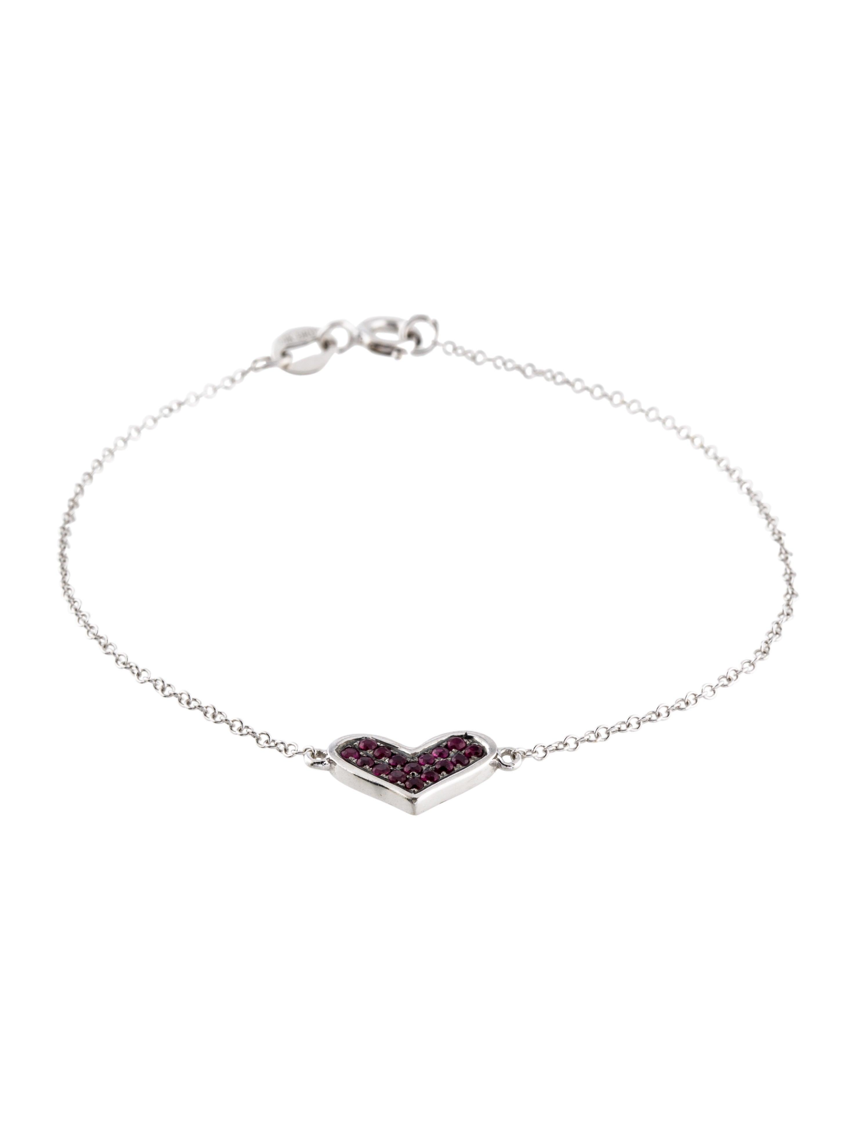 Dana Rebecca 14 Ruby Heart Station Bracelet