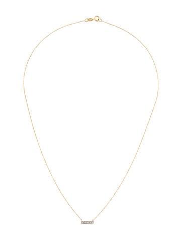 14K Diamond Sylvia Bar Necklace