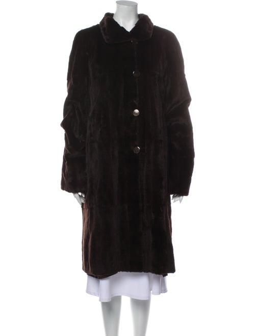 David Goodman Reversible. Fur Coat Brown
