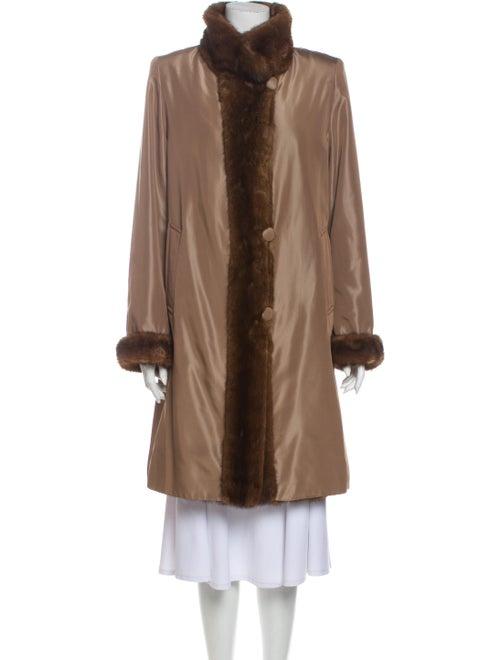 David Goodman Fur Coat Brown