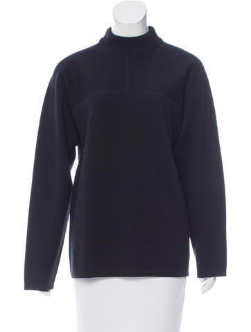 Damir Doma Mock Neck Wool-Blend Sweater None