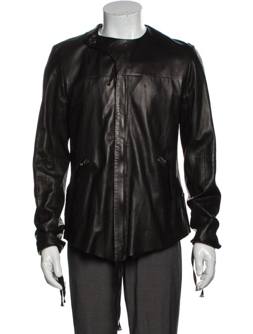 Damir Doma Leather Jacket Brown