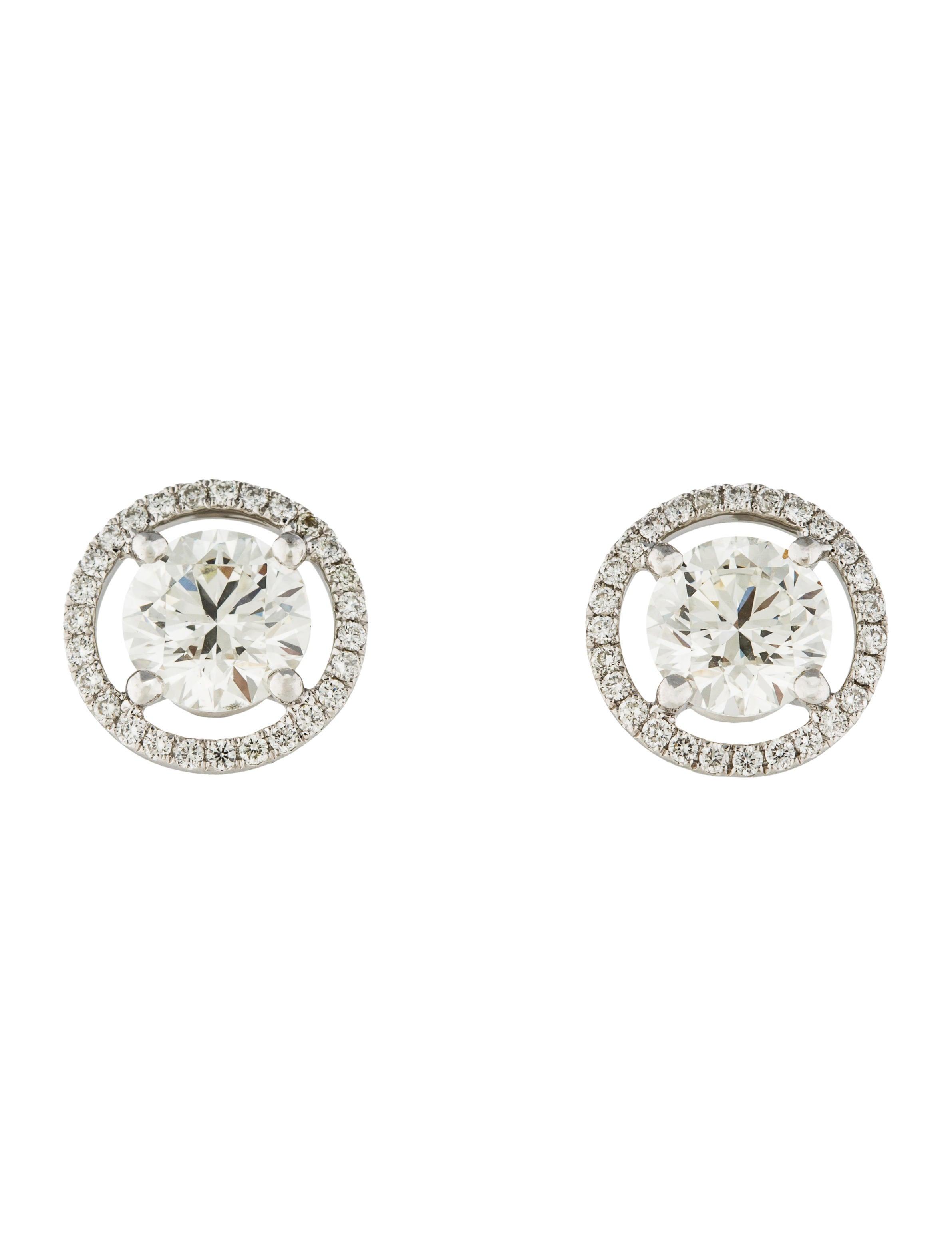 a72983d8a De Beers Aura Diamond Stud Earrings - Earrings - DEB20050 | The RealReal