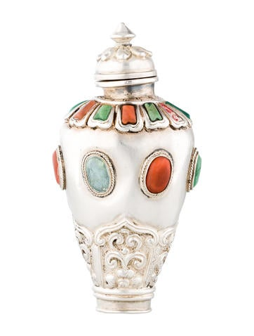 Sterling silver snuff bottle decor and accessories for Artistic accents genuine silver decoration