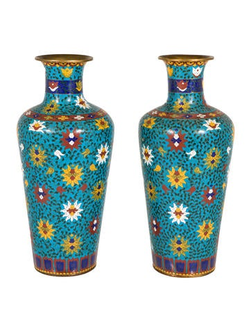 Chinese Cloisonne Vases None