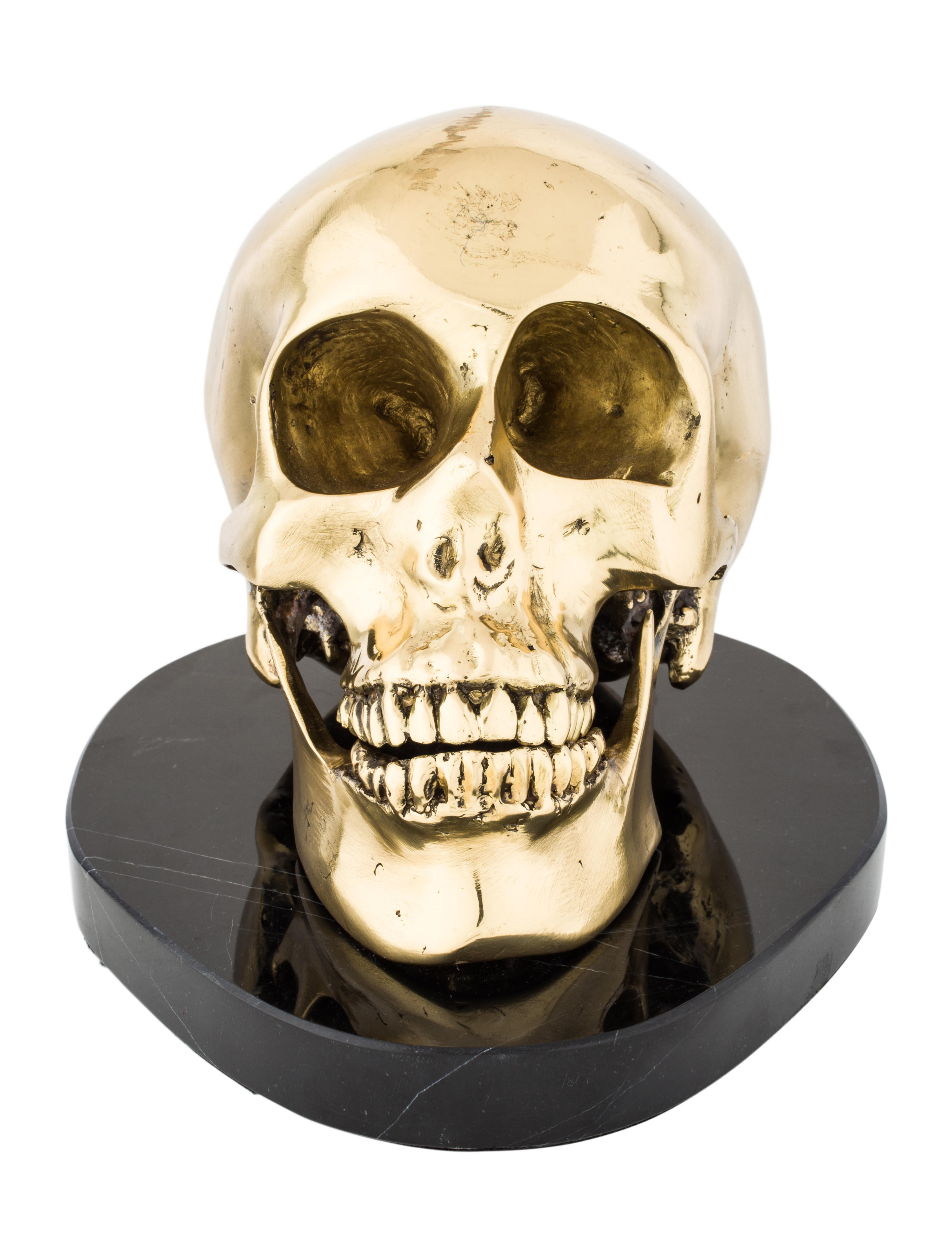 Marble skull figurine decor and accessories decor20658 for Skull home decor