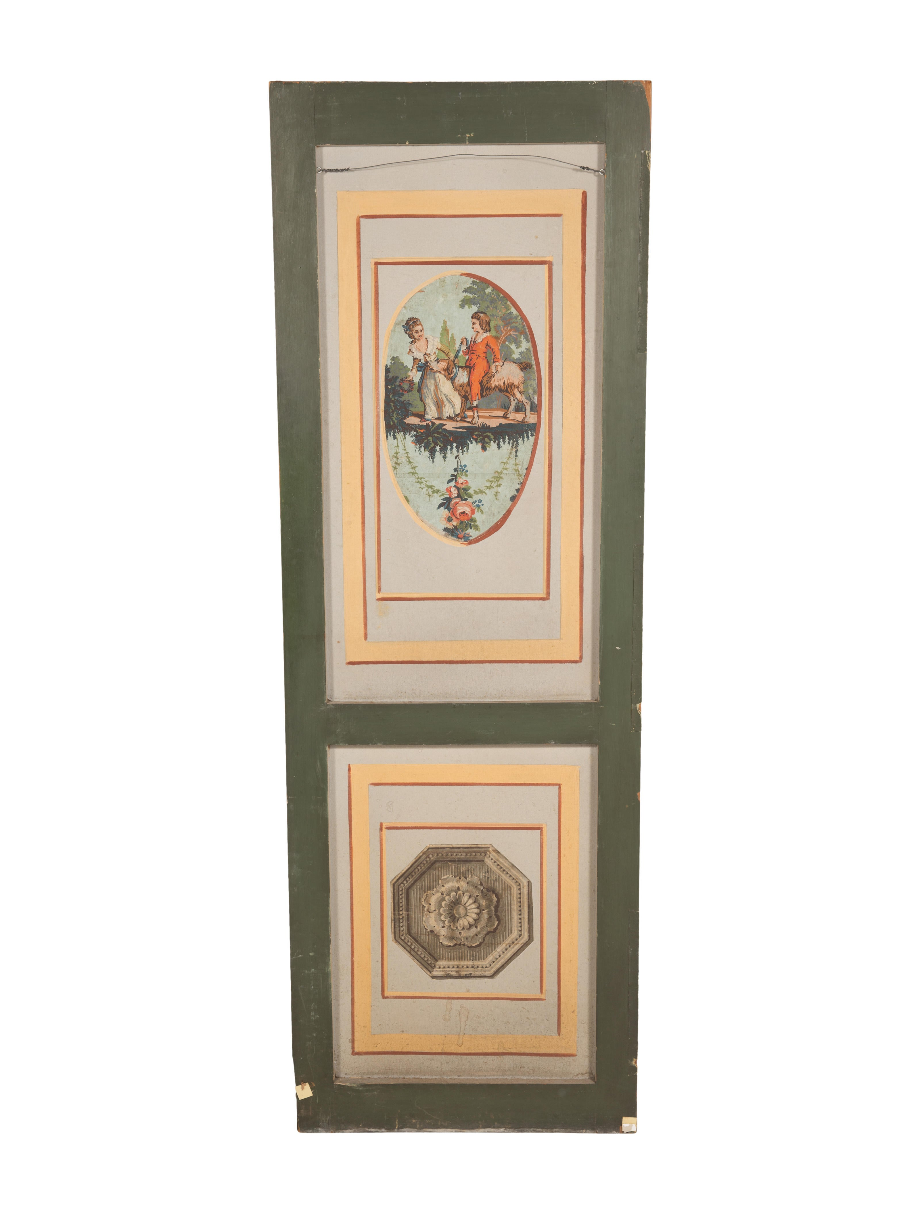 French 19th century hand painted door panel decor and for Home decor accessories