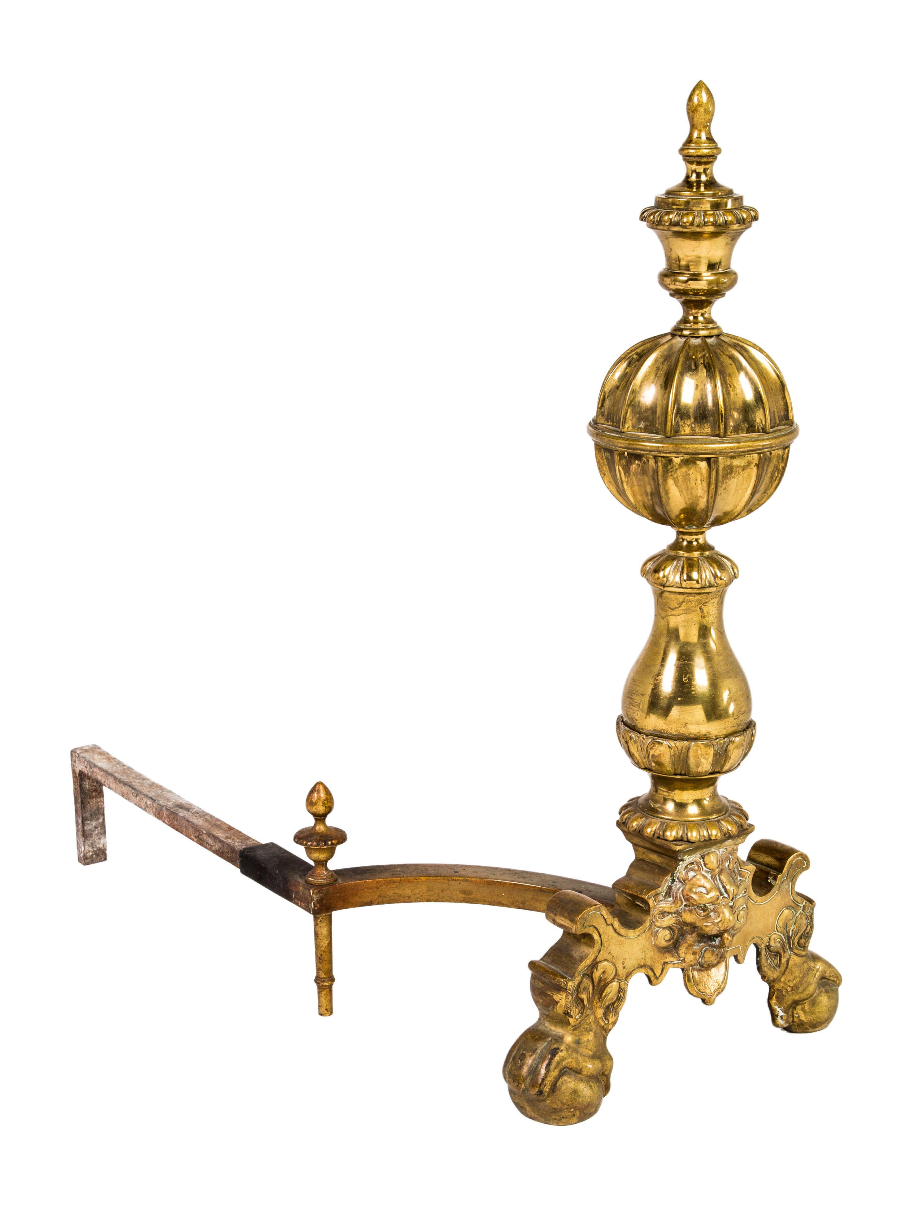 Brass lion andirons decor and accessories decor20911 for Brass home decor