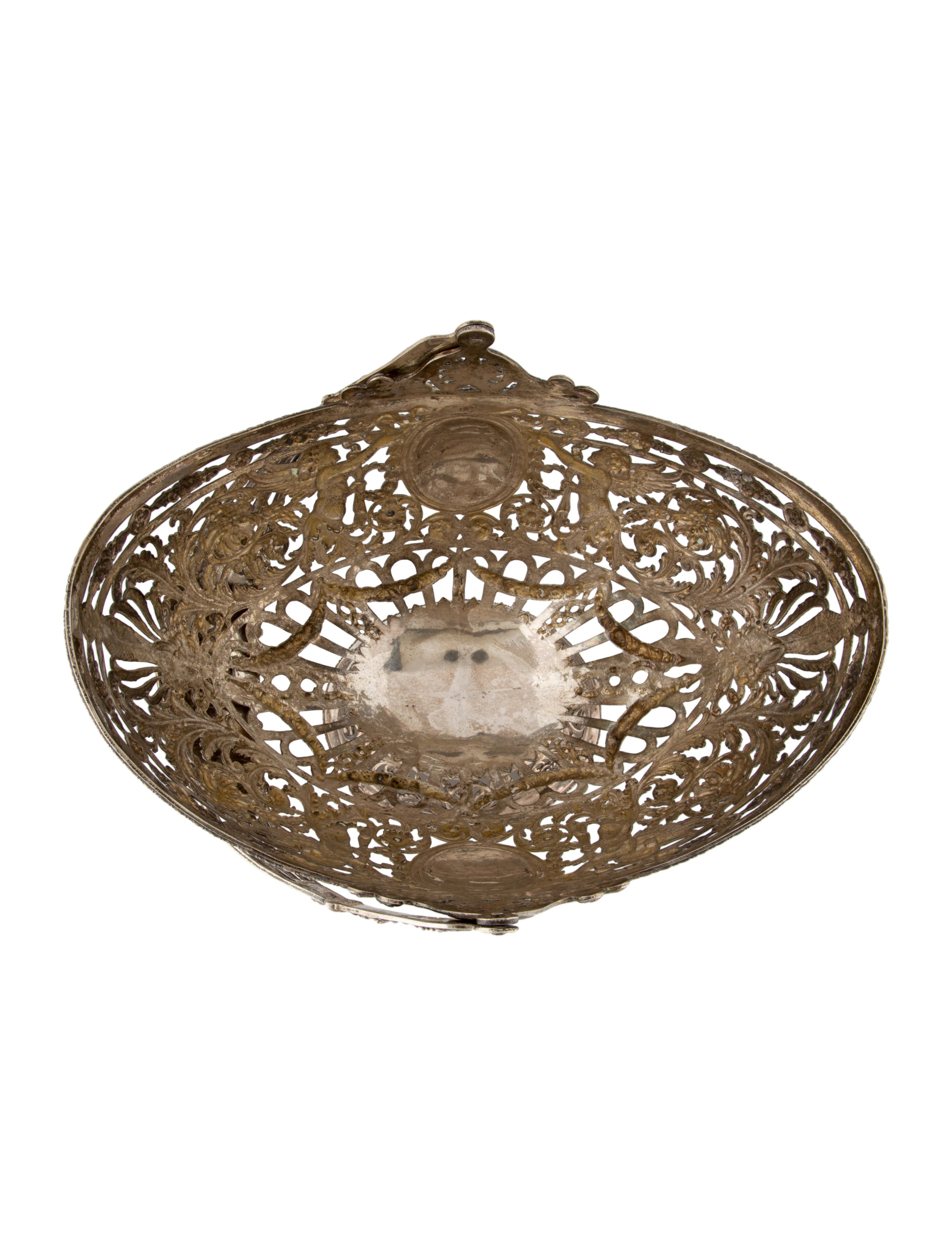 Silver german georg roth co pierced basket decor and for Artistic accents genuine silver decoration