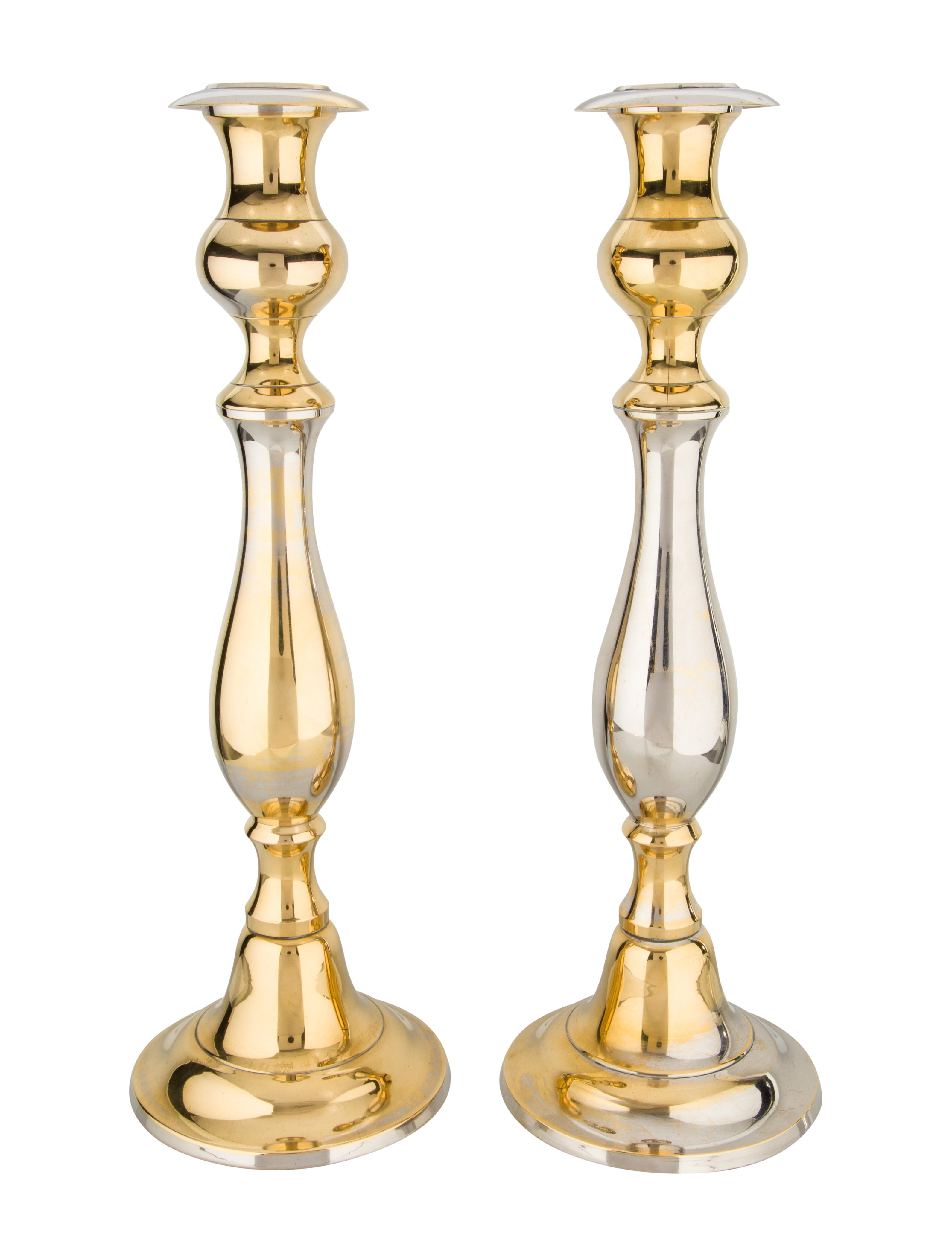 Pair of silverplate candlesticks decor and accessories decor21424 the realreal Home decor candlesticks