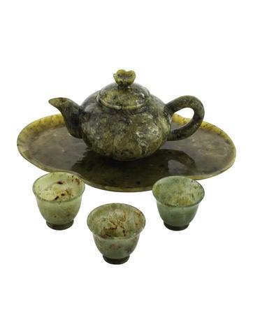 Decor 5-Piece Chinese Serpentine Mini Tea Set None