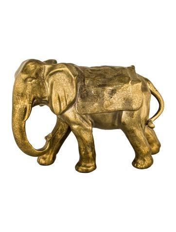 Ceramic Elephant Sculpture None
