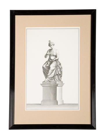 Framed Figural Sculpture Print None