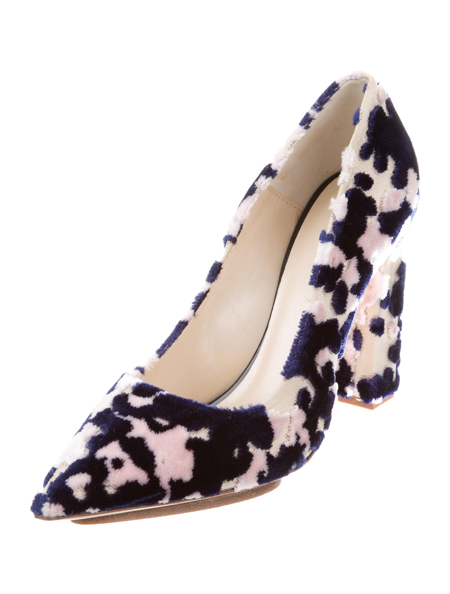 Delpozo 2017 Burnout Velvet Pumps quality for sale free shipping discount fashionable with credit card online cheap sale Cheapest browse cheap price 97eodJYPn