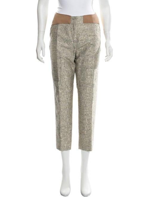 Delpozo Tweed High-Rise Pants Grey