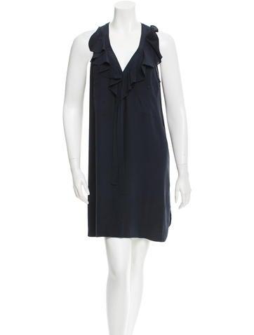 Derek Lam Ruffled Silk Dress