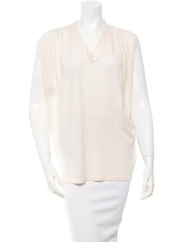 Derek Lam Cashmere & Silk-Blend Top None