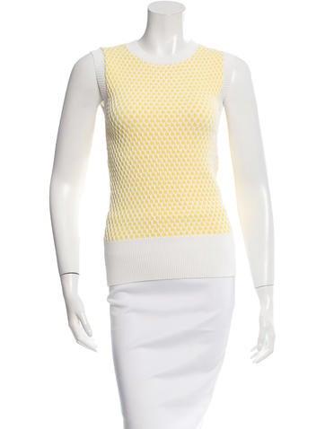 Derek Lam Sleeveless Crochet Top None