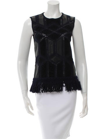 Derek Lam Embroided Sleeveless Top None