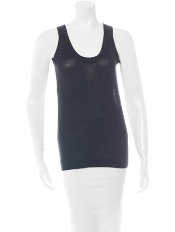 Derek Lam Cashmere & Silk Sleeveless Top None