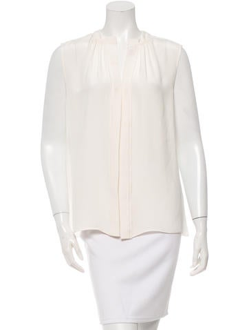 Derek Lam Sleeveless Silk Top None
