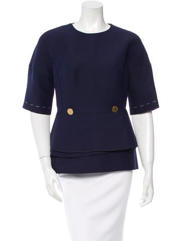 Derek Lam Wool Peplum Top w/ Tags None