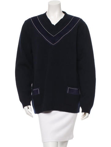 Derek Lam Wool Suede-Accented Sweater w/ Tags None