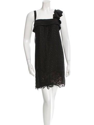 Derek Lam Crocheted Mini Dress None