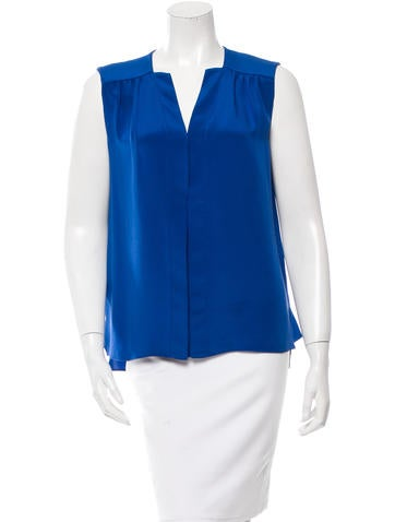 Derek Lam Silk V-Neck Top None