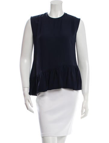 Derek Lam Silk Peplum Top