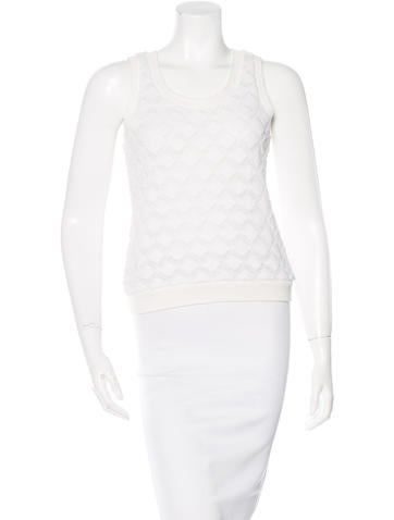Derek Lam Geometric Knit Top None