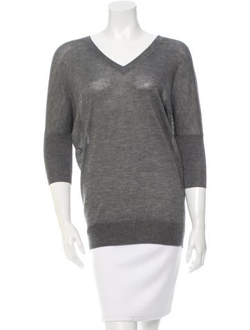 Derek Lam Cashmere Three-Quarter Sleeve Top None