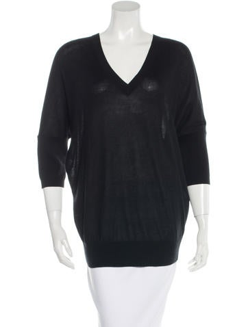 Derek Lam V-Neck Knit Top None