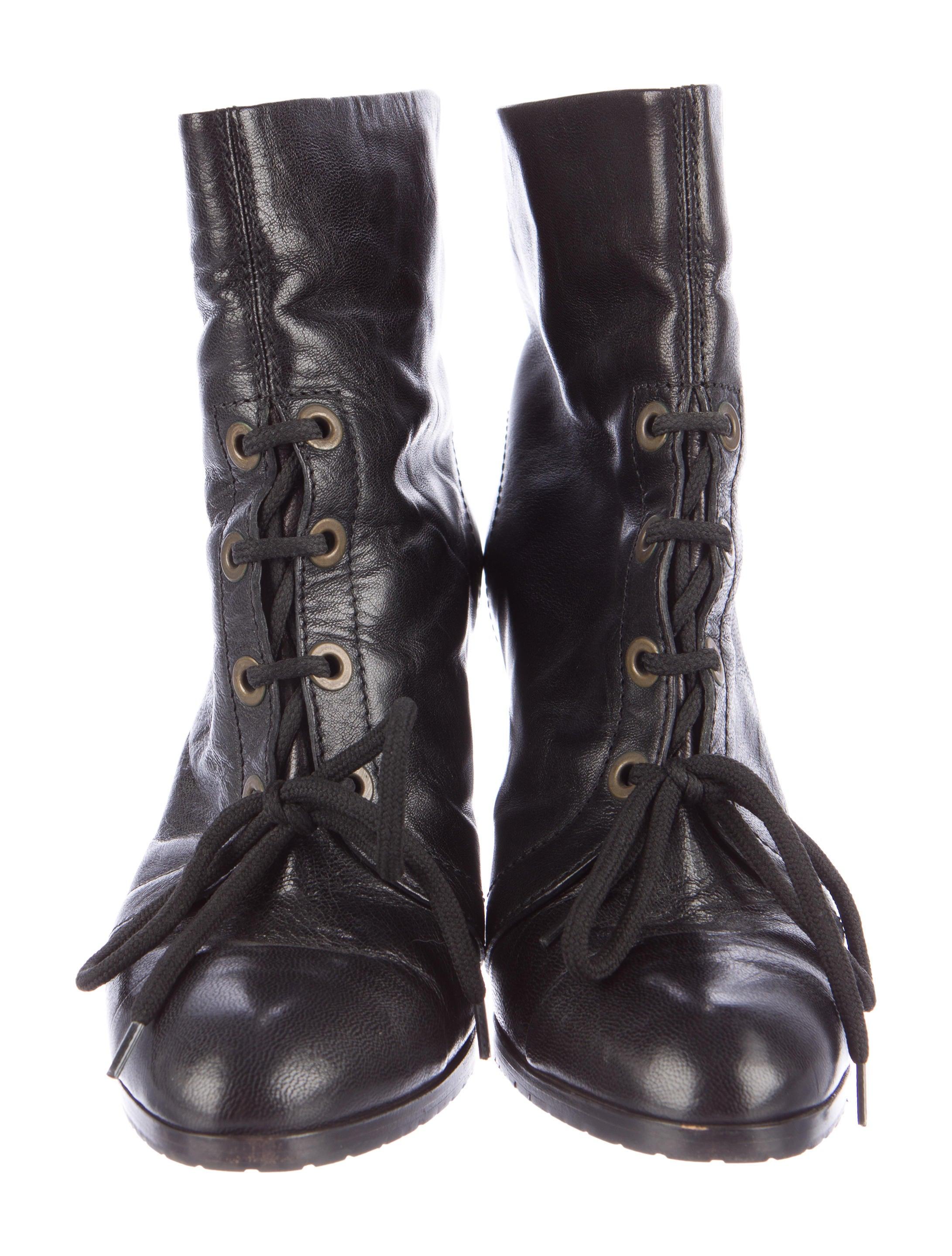 derek lam leather lace up ankle boots shoes der27064