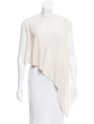 Derek Lam Asymmetrical Overlay Sweater None