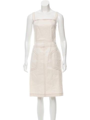 Derek Lam Linen Sheath Dress