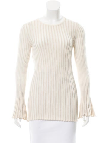 Derek Lam Rib Knit Long Sleeve Top w/ Tags None