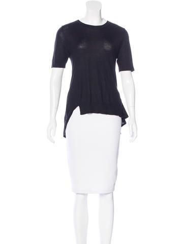 Derek Lam Cashmere Short Sleeve Top None