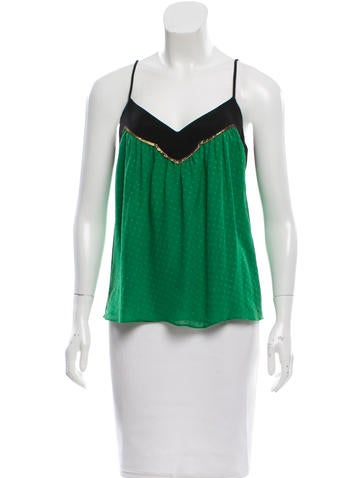 Derek Lam Silk Sleeveless Top None