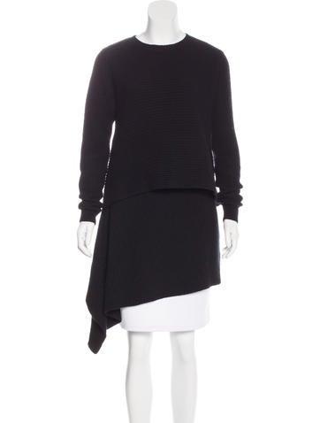 Derek Lam Cashmere Layered Sweater None