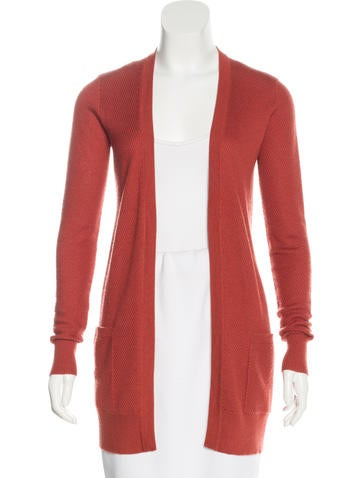 Derek Lam Cashmere & Silk-Blend Open Front Cardigan None