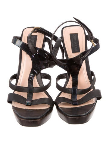 Leather Platform Sandals