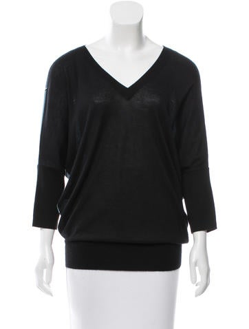 Derek Lam Silk-Accented Cashmere Top None
