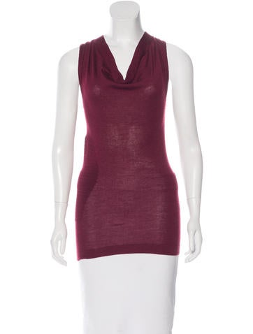 Derek Lam Sleeveless Rib Knit Top None