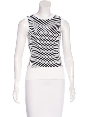 Derek Lam Knit Patterned Top None